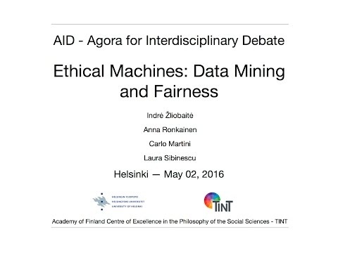 AID forum: Ethical Machines - Data Mining and Fairne
