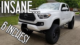6-INCH Pro Comp LIFT on 2018 Tacoma TRD!! So High!