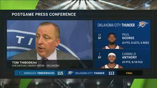 Wolves' Thibodeau: Wiggins game-winner a 'great shot from a great player'