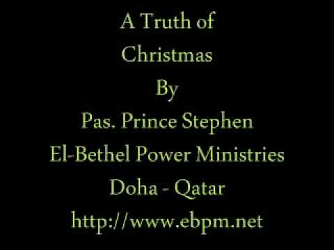 Christmas Message by Pastor Prince Stephen Part1
