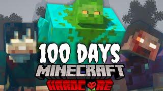 I Survived 100 Dąys in a Minecraft Zombie Apocalypse Survival Island ... 100 Days in Minecraft
