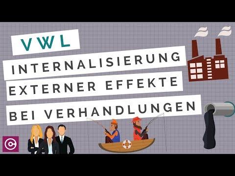 Volkswirtschaftslehre - Internalisierung externer Effekte durch Verhandlungen (Schadenshaftung)