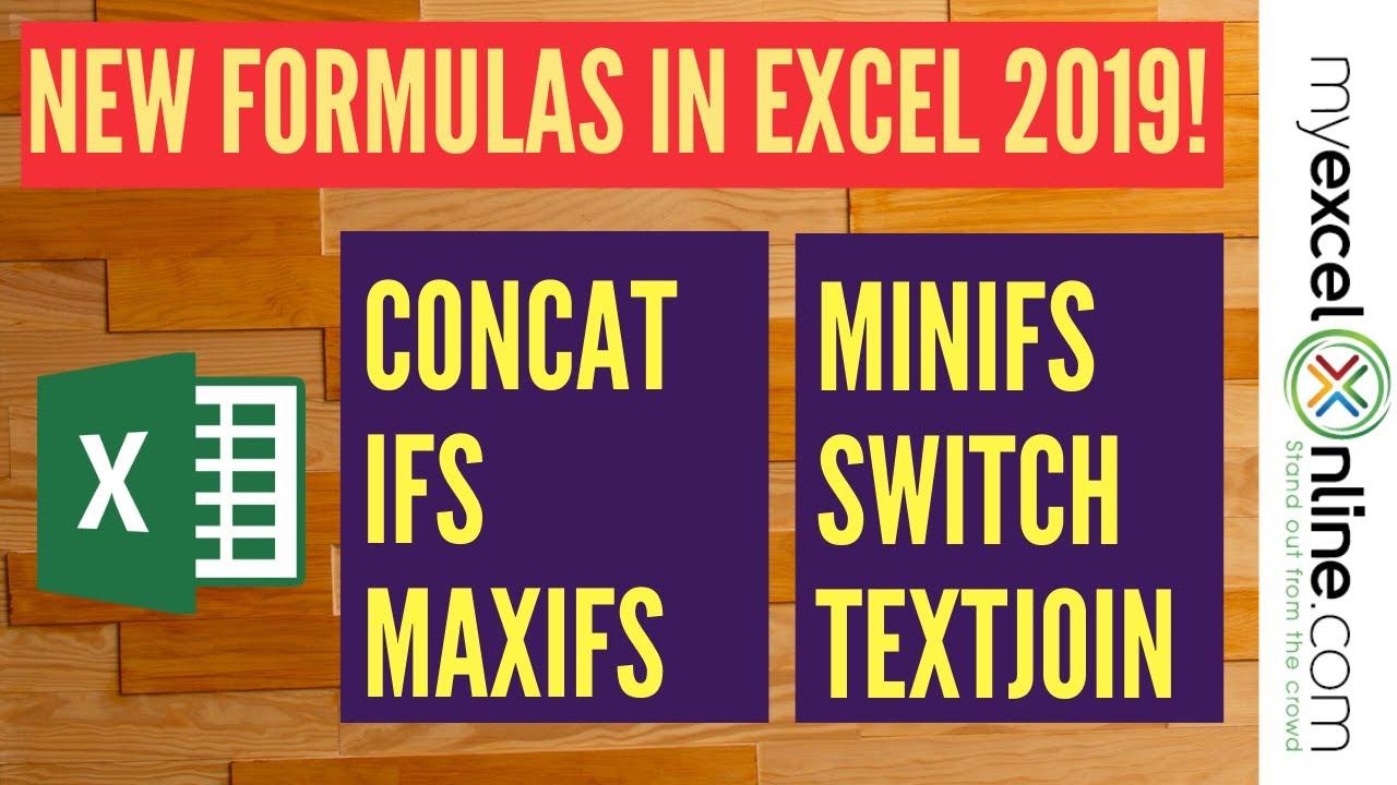 New Formulas in Excel 20   MyExcelOnline