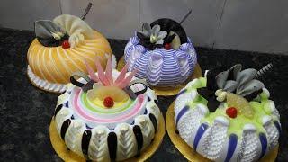 5 pineapple cake counter cake making by New Cake Wala