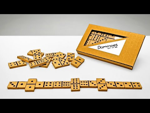 How To Make Dominoes Game From Cardboard DIY At Home