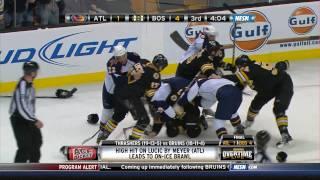Bruins/Thrashers line brawl uncut NESN 1080p HD 12/23/10