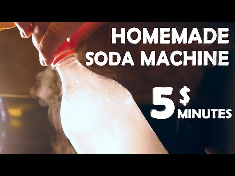 How To Make A Soda Machine! - 5$ 5 Minutes!! (Super Easy)