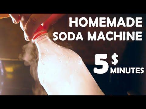 How To Make A Soda Machine! - 5$ 5 Minutes!! (Super Easy)