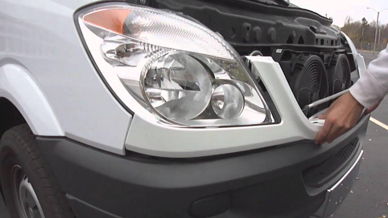 Mercedes Sprinter 2006 >> Dodge Sprinter Grille and valance panel installation - YouTube