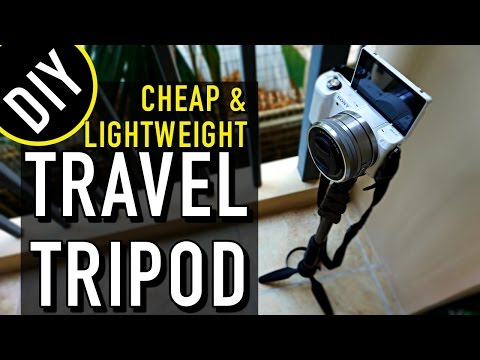 DIY Travel Hack: CHEAP & LIGHTWEIGHT TRAVEL TRIPOD!!