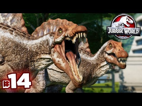 SPINOSAUR FRIENDS!!! - Jurassic World Evolution - JURASSIC MODE | Ep14 HD