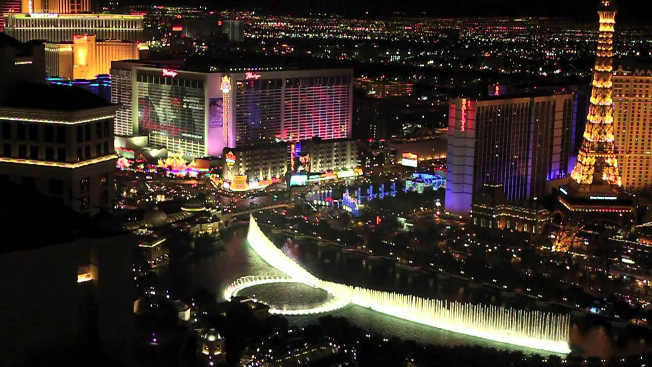 Bellagio Fountains from Vdara Hotel in Las Vegas  YouTube