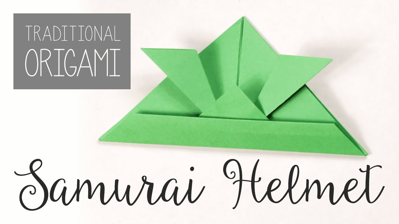 Easy Origami Samurai Helmet Tutorial