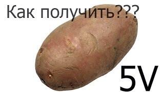 Как из одного картофеля получить 5 В,Электричество из картофеля/ How to make electricity from potato