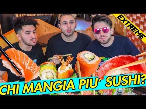 SUSHI EXTREME CHALLENGE 🍣 CHI PERDE PULISCE IL CESSO! | Matt & Bise ft. Amedeo Preziosi