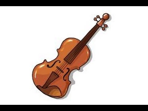 how to draw a violin step by step youtube