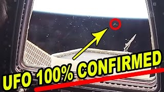 Repeat youtube video PROOF:  Mystery UFO Sighted Outside ISS Window is REAL 3/18/17