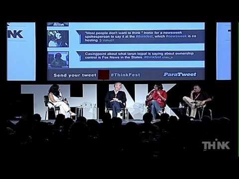 Barkha Dutt, Christopher Dickey & Tarun Tejpal at THiNK 2011