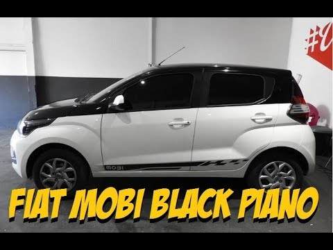 Thumbnail: Envelopamento Fiat Mobi Black Piano MATERIAL ALEMÃO ORACAL