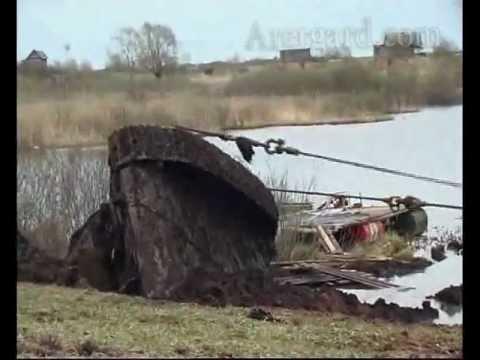 Подъем танка Т 34 в Зеленкино полное видео