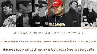 [HAN|RM|TR] Young B, Hash Swan, Hangzoo, Killagramz - Yozm Gang ft. DEAN, Zico Color Coded