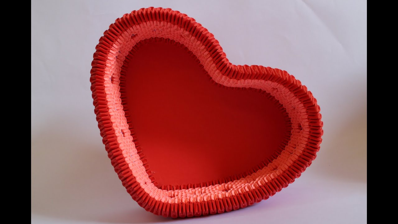How To: 3D Origami Heart Box - YouTube - photo#24
