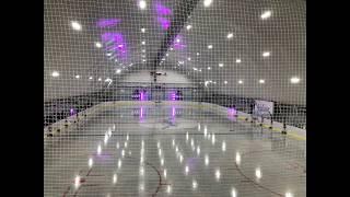 Строительство ледового катка в Юдино