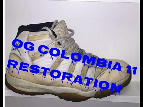 premium selection 97e09 0c318 top quality air jordan 11 colombia white blue black fa65f e8fc4  czech 1996 jordan  colombia 11 restoration youtube db7f1 c9652