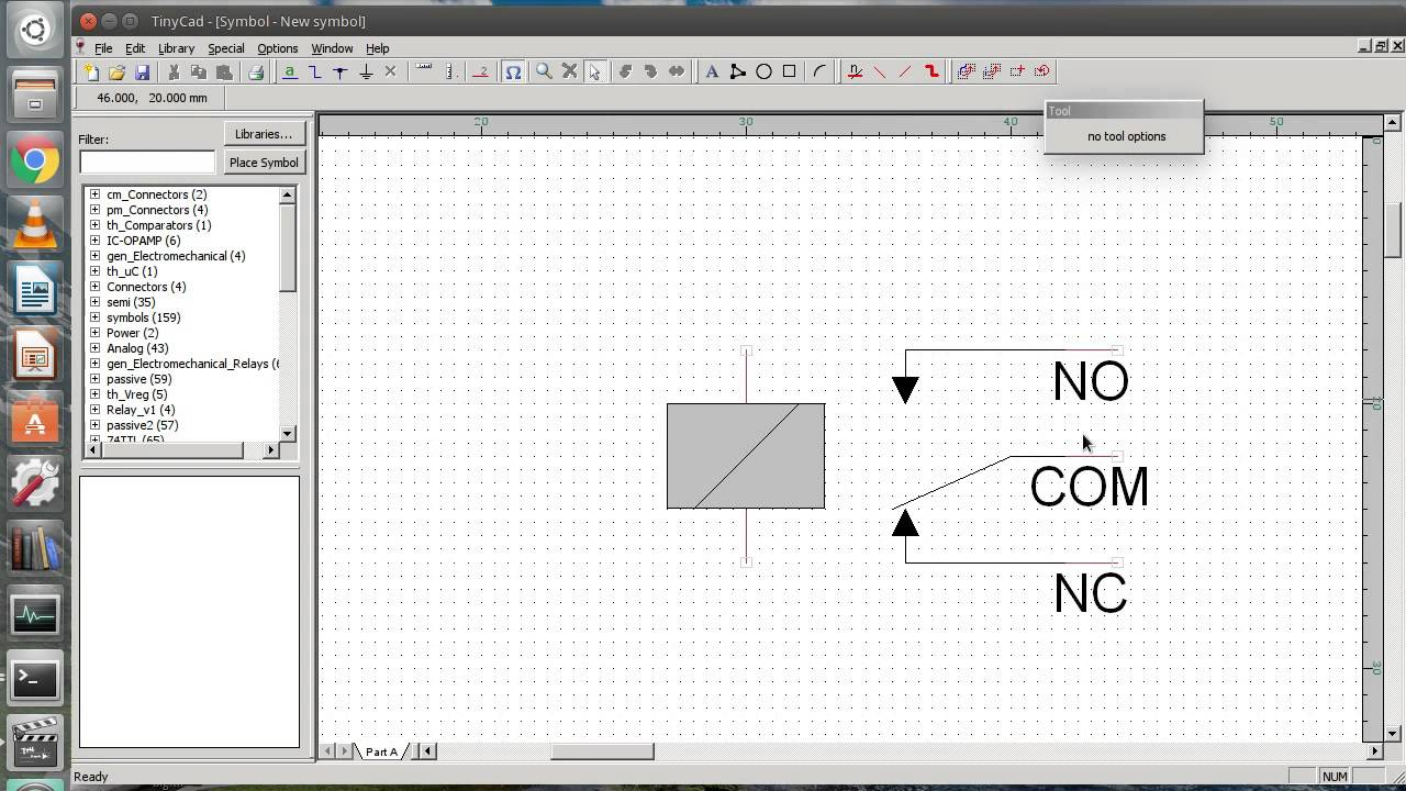 Create new library and schematic symbols in TinyCAD - YouTube