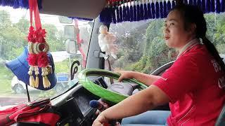 น้องปายผู้หญิงขับรถพ่วงมืออาชีพ