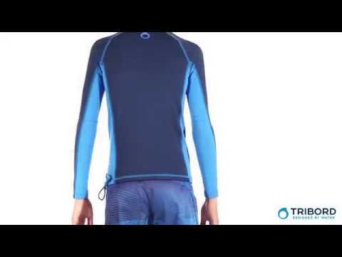 Camiseta manga longa com proteção solar UPF50+ infantil Tribord -  Exclusividade Decathlon 210bf24f75