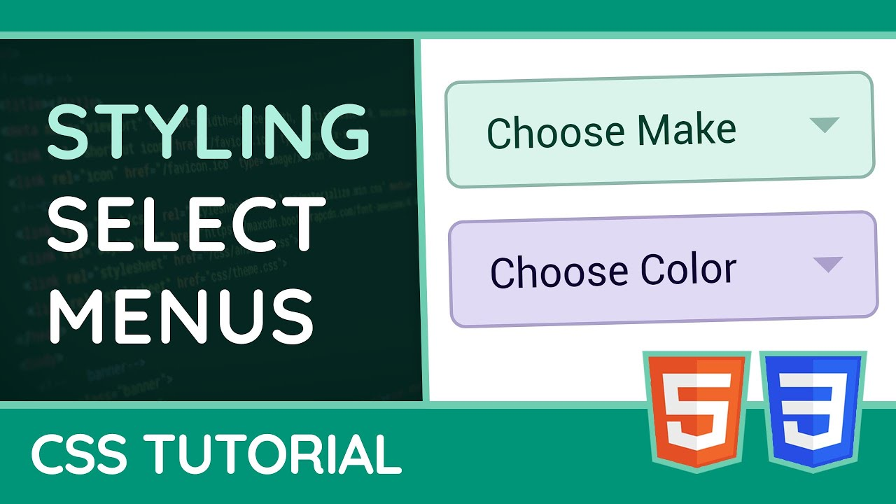 How to style Select Menus - CSS Tutorial