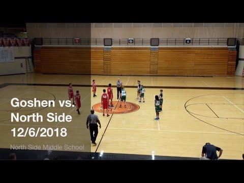 Goshen Middle School vs. North Side Middle School 7th Grade Basketball Game 12/6/2018
