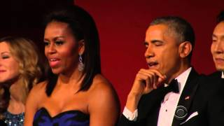 Aretha Franklin Brings President Obama To Tears Performing At Kennedy Center Honors thumbnail