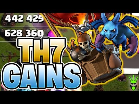 HUGE TH7 GAINS! - Push That Rush Ep.9 - Clash Of Clans - Town Hall 7 Loonion Farming!