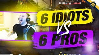 6 IDIOTS VS 6 PRO PLAYERS! FUNNIEST SQUAD EVER! (Modern Warfare)