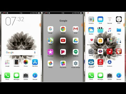 Hindi) OPPO (ColorOS) THEME : iPHONE X by Tech 4 iNFO