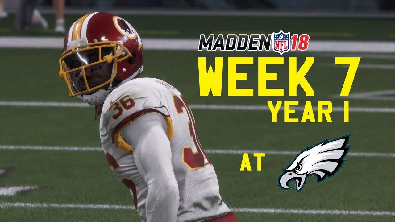 Week 7 MNF At Eagles Washington Redskins Franchise