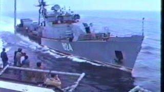ДЕШЕВЫЙ ДУХ АМЕРИКАНСКИХ МОРЯКОВ. Таран американского эсминца.