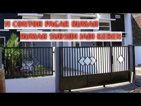 11 Contoh Renovasi Pagar Rumah Subsidi Mungil Terlihat Minimalis Youtube