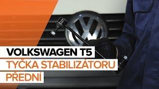 Jak vyměnit tyčka stabilizátoru přední na VOLKSWAGEN T5 NÁVOD | AUTODOC