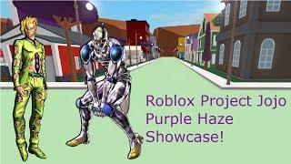 Roblox Project Jojo Purple Haze Showcase!
