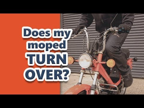 Tutorial: Does my moped turn over? How to start a vintage two stroke moped