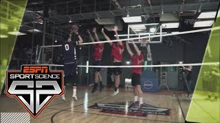 Zach Collins Tries Shooting Against Volleyball Blockers | Sport Science | ESPN