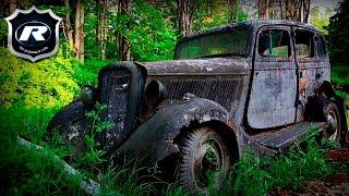 В Лесу Подмосковья Бросили Гнить Элитные Ретро Авто! Кладбище Машин И Заброшенные Авто За Городом