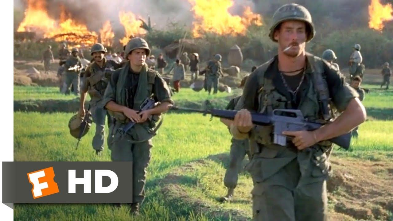 Download Platoon (1986) - Burning the Village Scene (4/10)   Movieclips