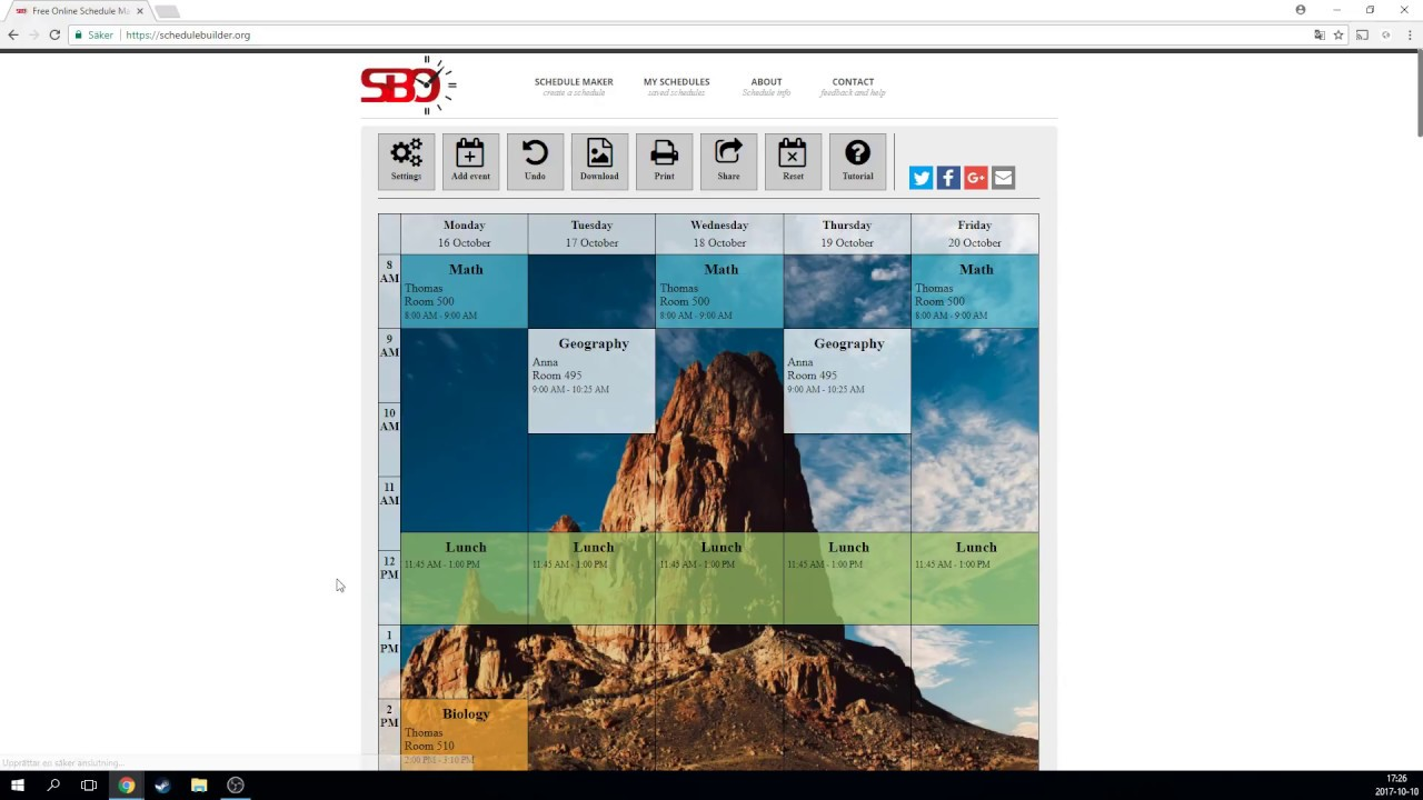free online schedule maker