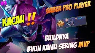 Video WAJIB DITIRU !! Build Saber Terbaru Bulan Ini Dijamin MVP, Pro Player: Zane  -  MLBB Gameplay   #3 download MP3, 3GP, MP4, WEBM, AVI, FLV April 2018