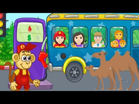 Monkey Bus Driver | Bus Simulater Game | Game for kids |