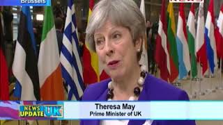 Prime Minister Theresa May in Brussels for EU Summit